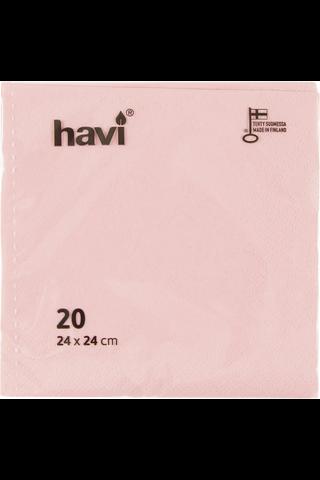 Havi lautasliina vaaleanpunainen 24cm 20kpl