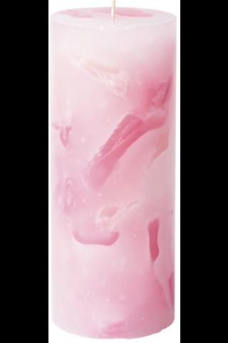 Havi 1kpl/7cmx17cm Topaasi vaaleanpunainen pöytäkynttilä 65 h