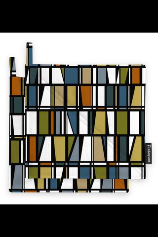 Finlayson Coronna patalappu petrooli/oranssi/keltainen 2kpl 22x22 cm
