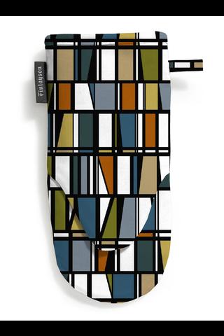 Finlayson Coronna patakinnas petrooli/oranssi/keltainen 15x30 cm