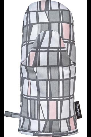 Finlayson patakinnas Coronna 15x30cm harmaa/vaaleanpunainen