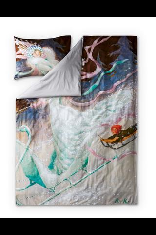 Finlayson Lumikuningatar satiinipussilakanasetti 150x210+50x60 cm, multi