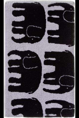 Finlayson Elefantti kylpypyyhe musta/harmaa 70x150 cm