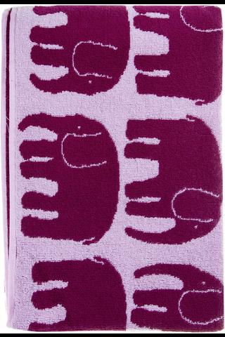 Finlayson kylpypyyhe Elefantti 70x150cm viininpunainen/roosa