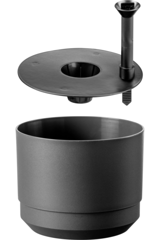 Säiliöruukku 20 cm Orthex tummanharmaa