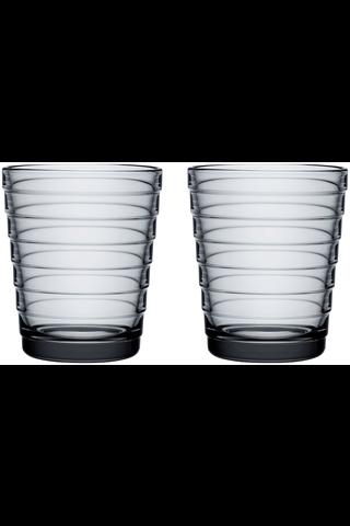 Iittala Aino Aalto juomalasi 22cl harmaa 2kpl