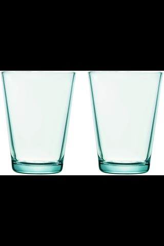 Iittala Kartio juomalasi 40cl vedenvihreä 2kpl