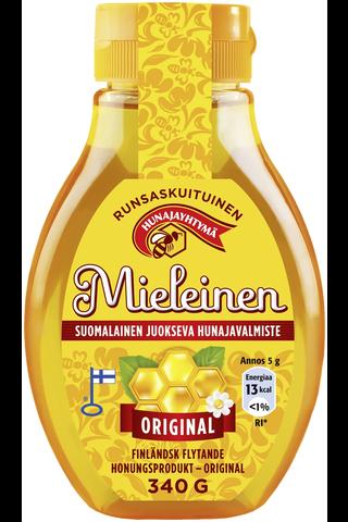 Mieleinen 340g suomalainen juokseva hunajavalmiste original