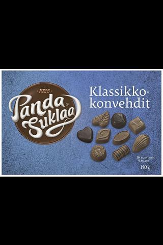 Panda Klassikkokonvehdit 150g suklaakonvehteja