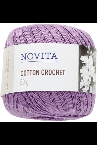 Novita Cotton Crochet 50g lanka orvokki 744