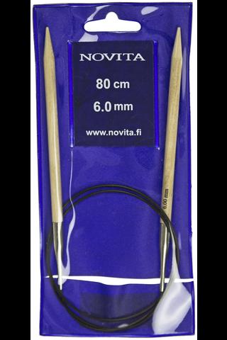 Novita Koivu pyöröpuikko 80cm 6,0mm