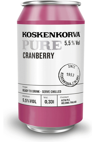 Koskenkorva Pure Cranberry 5,5% 33cl can