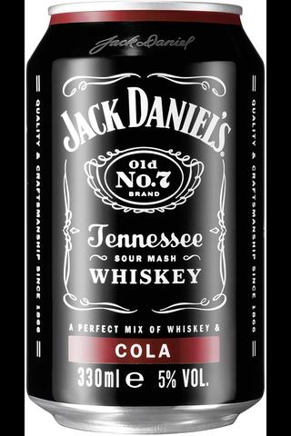 Jack Daniel's & Cola 5% 33cl can