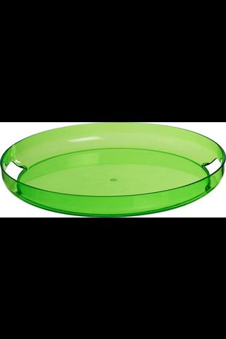 House tarjotin pyöreä 37 cm vihreä