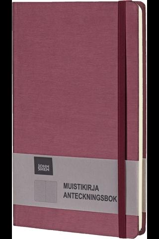 Johnshen js15044 muistikirja kiiltävä pinkki