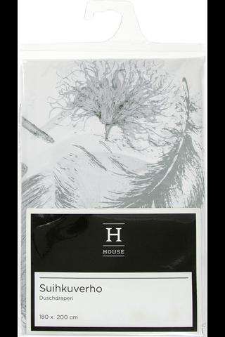 House suihkuverho Feather 180x200cm
