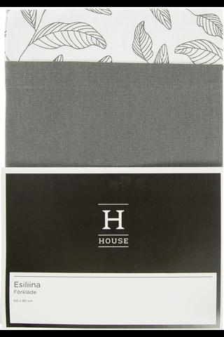 House Lehdet esiliina 60x90cm mustavalkoinen