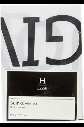 House Text Lemonade suihkuverho 180x200 cm