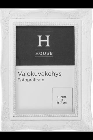 House valokuvakehys 16,5x21,5cm valkoinen