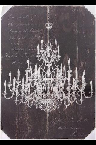 House Chandelier canvastaulu led-valoilla 50x70cm