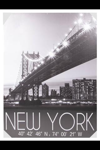 House New York kanvastaulu led-valoilla 85x113cm