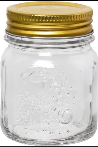 Lasipurkki kierrekannella 150 ml