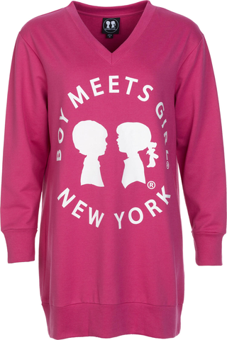 Boy Meets Girl naisten collegepusero NYC