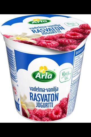 Arla 200 g rasvaton vadelma-vanilja jogurtti