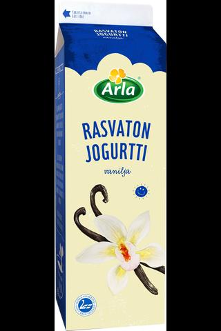 Arla 1kg rasvaton vaniljajogurtti