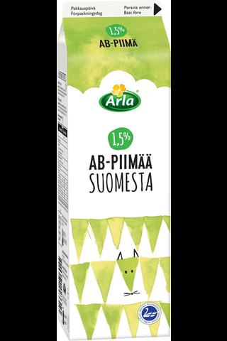 Arla 1 L Suomesta AB 1,5% piimä