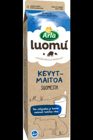Arla Suomi1l kevytmaito homogenoimaton luomu