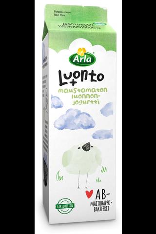 Arla 1 kg Luonto + AB laktoositon luonnonjogurtti