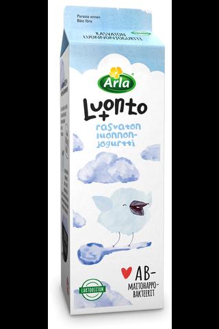 Arla Luonto+ AB 1 kg rasvaton laktoositon maustamaton jogurtti