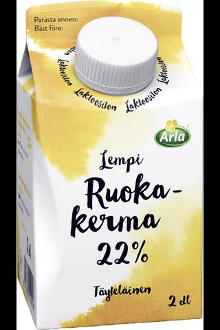 Arla Lempi 2dl 22% laktoositon ruokakerma