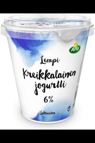 Arla Lempi 300g kreikkalainen jogurtti 6% laktoositon