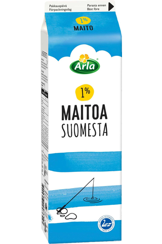 Arla Suomi 1l maito 1%