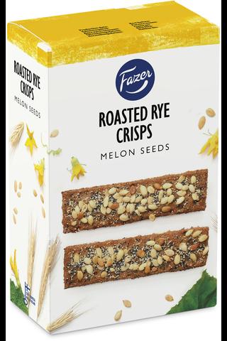 FAZER Roasted Rye Crisps Melon Seeds 110g näkkileipä