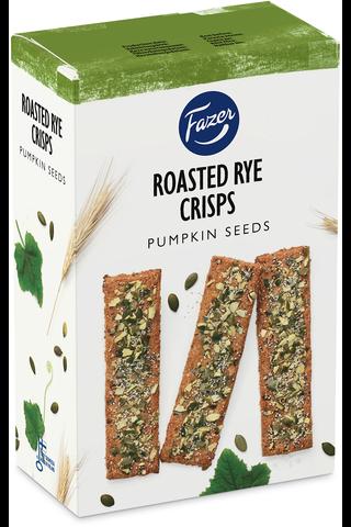 FAZER Roasted Rye Crisps Pumpkin Seeds 110g näkkileipä
