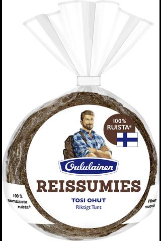 Oululainen Reissumies 175g 5kpl Tosi Ohut ruisleipä