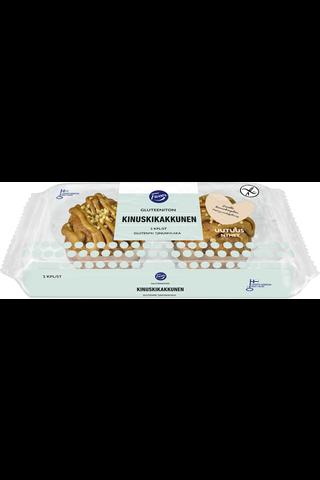 Fazer Gluteeniton Kinuskikakkunen 150g 2 kpl sulatettu leivos