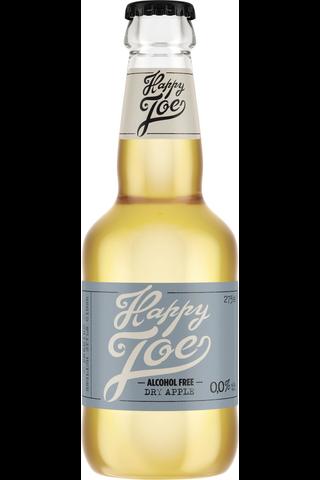 Hartwall Happy Joe Dry Apple 0% alkoholiton siideri 0,275 l kertalasipullo