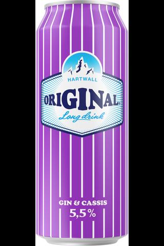 Hartwall Original Long Drink Cassis  5,5% 0,5l tölkki