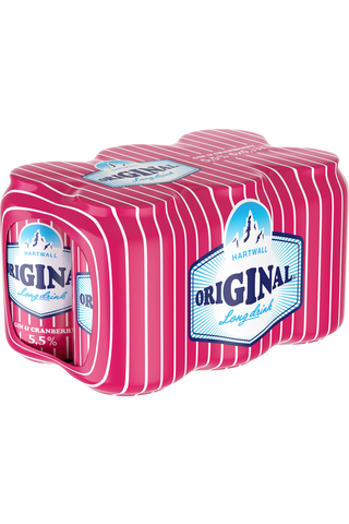 6x Hartwall Original Cranberry Long Drink 5,5% 0,33 l