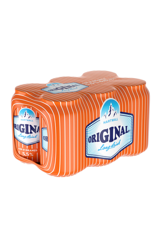 6 x Hartwall Original Long Drink Orange 5,5% 0,33 l