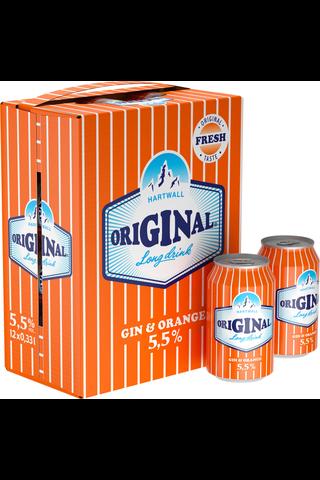 12 x Hartwall Original Long Drink Orange 5,5% 0,33 l