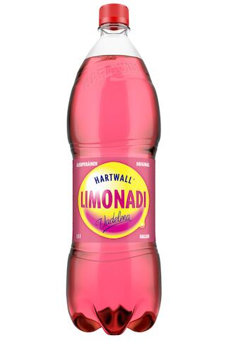 Hartwall Limonadi Vadelma virvoitusjuoma 1,5 l
