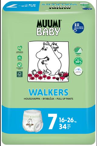 Muumi Baby Walkers housuvaippa 7 - 34 kpl 16-26 kg