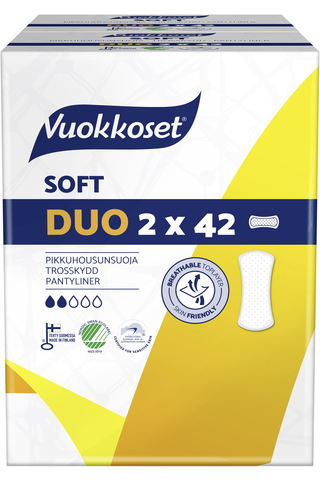 Vuokkoset Soft Duo pikkuhousunsuoja 2x42 kpl