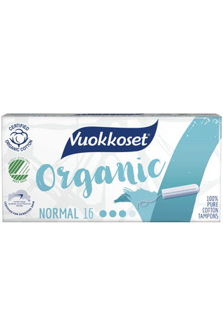 Vuokkoset Organic Tampon Normal 16kpl