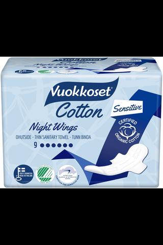 Vuokkoset Cotton Night Wings yöside 9 kpl